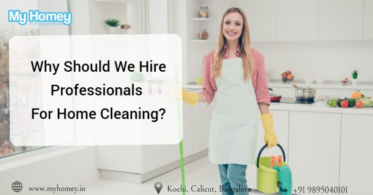 Hire Professional for home cleaning